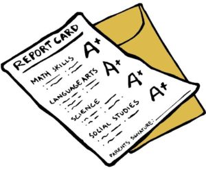 graphic showing a report card
