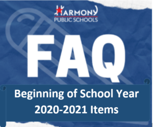 Begining of School Year Items FAQ Logo